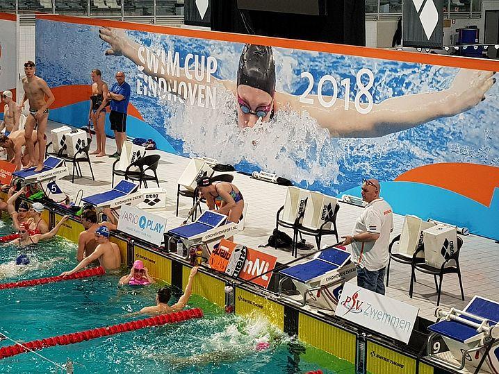 """Warmup zum """"Swim Cup Eindhoven"""". (c)Foto:P.Bräunlich"""