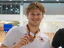 Geotg Schubert freut sich über Bronze. (c)Foto:Verein