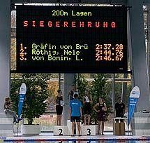 An solche Siegerehrungen könnten wir uns gewöhnen. Alle drei Mädels sind vom DSC. Platz 1 für Eva Gräfin von Brühl, Platz 2 für Nele Röthig und Platz 3 für Leni von Bonin. (c)Foto:D.Drinkuth