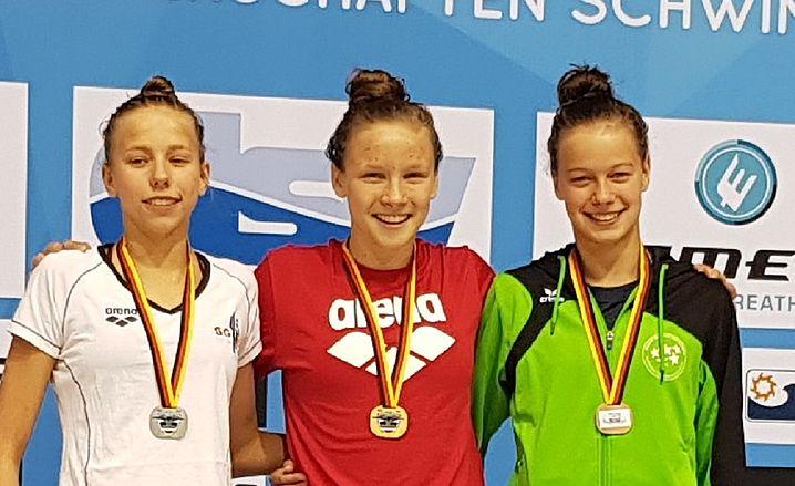 Celine Wolter (rechts) holt Bronze. (c)Foto:Oehme