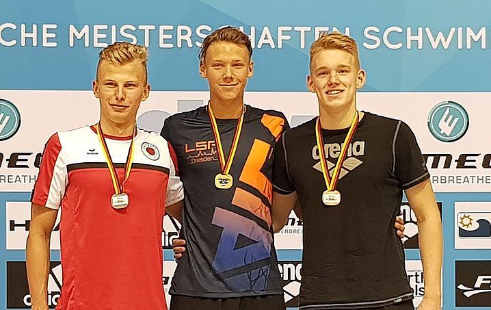Rafael Sünkel (links) ist Silbermedaillengewinner über 100m Freistil. (c)Foto:Oehme