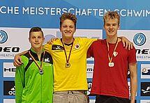 Alexander Eich gewinnt über 200m Schmetterling mit neuem VR. (c)Foto:Oehme