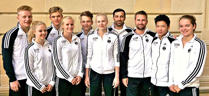 Das deutsche Wassersprung-Team von Baku. (Bildquelle: DOSB)