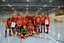 Die beiden DSC-E-Jugend-Mannschaften nach dem Turnier