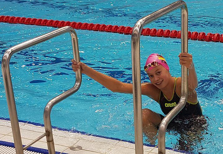Nach dem Bronzerennen: Celine Wolter. (c)Foto:Oehme