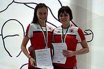 Unsere beiden erfolgreichen Schwimmerinnen Celine Wolter (l) und Lilo Firkert. (c)Foto:Oehme