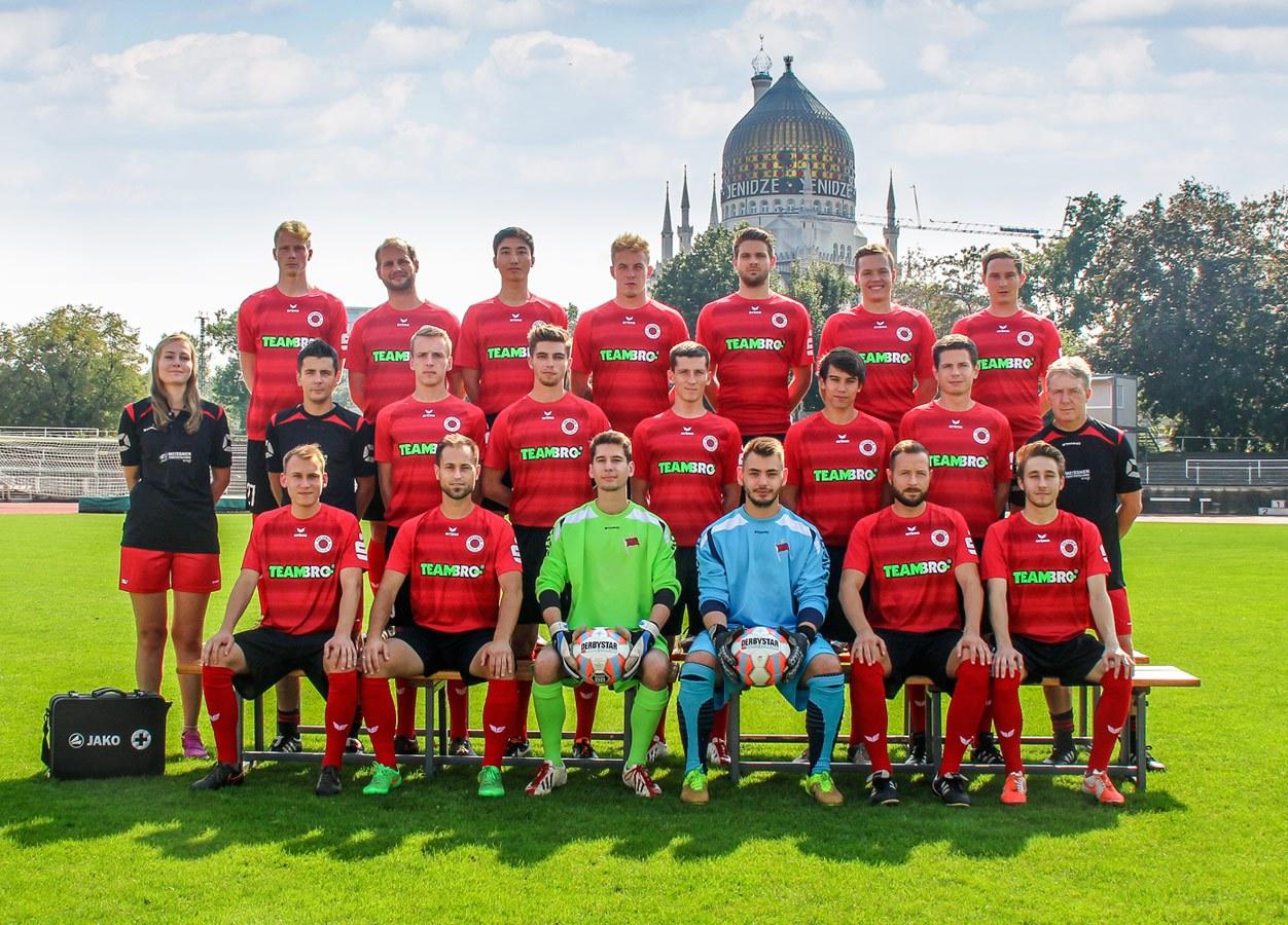 Mannschaftsfoto Dresdner SC 1898 Saison 2016/17