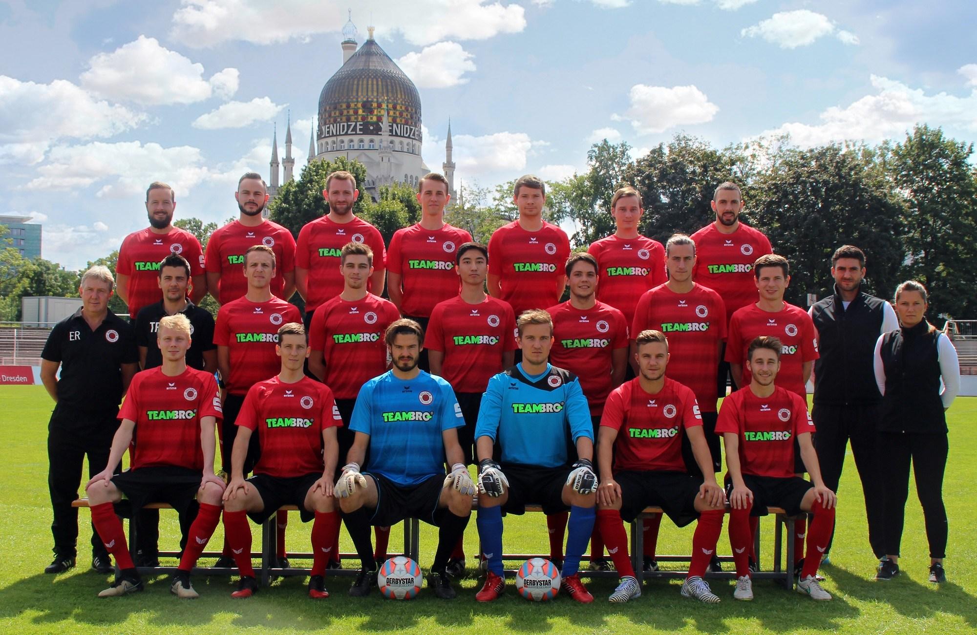 Mannschaftsfoto Dresdner SC 1898 Saison 2017/18