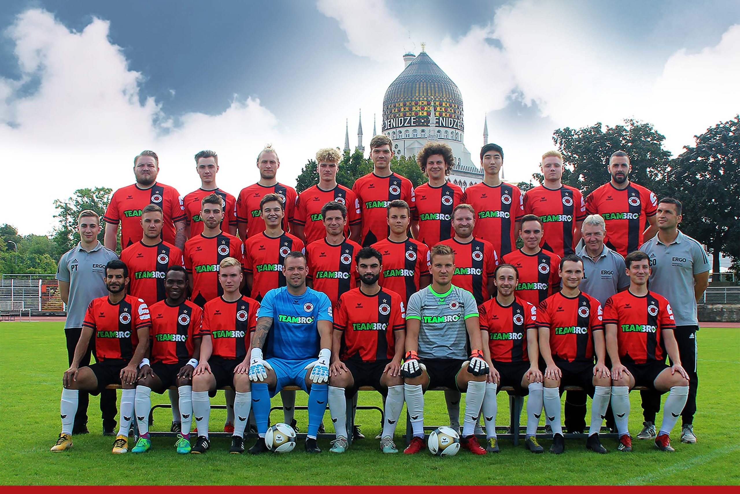 Mannschaftsfoto Dresdner SC 1898 Saison 2021/22