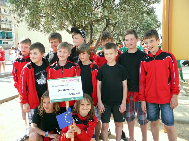 Die E1-Jugend des DSC 2013 beim Copa Cataluna.