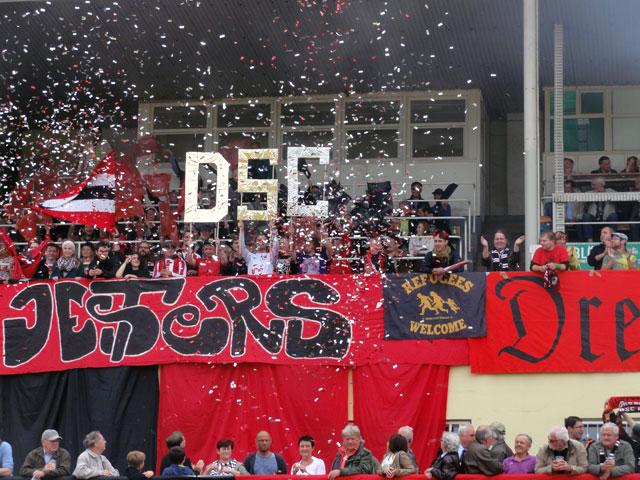 Lautstark unterstützten die DSC-Anhänger ihr Team!