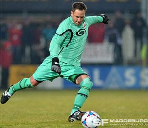 Teichmann im Spiel Meuselwitz gegen Magdeburg (März 2015) - Bildquelle: Sportfotos Magdeburg (www.sportfotos-md.de)