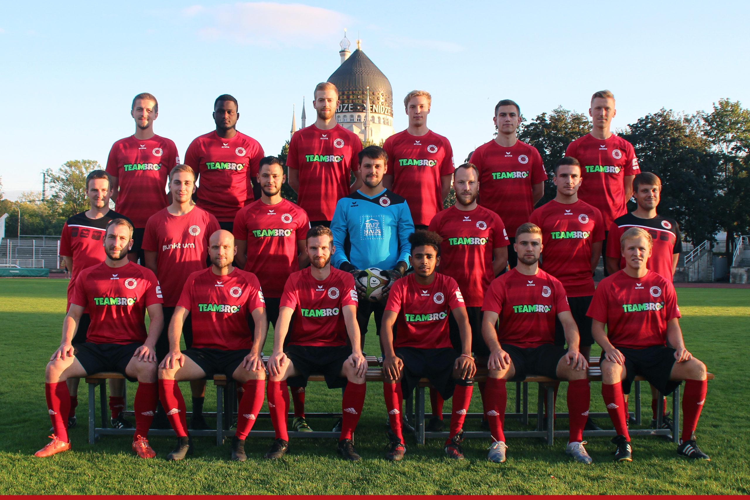Mannschaftsfoto Dresdner SC 1898 2. Mannschaft Saison 2020/21