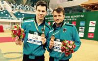 Patrick Hausding und Sascha Klein (r.) nach der Siegerehrung
